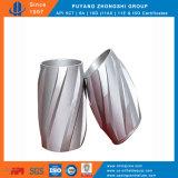 Centralizzatore rigido solido del corpo di alluminio con la lamierina a spirale
