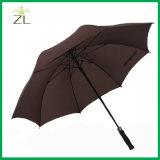 Parapluie droit UV de double couverture surdimensionnée de vent