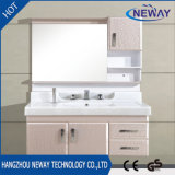 New PVC Mirrored Bathroom Vanity Cabinet Factory Hotel
