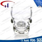 tasse de bière en verre de petite forme du crâne 70ml (CHM8029)