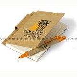 Cahier fait sur commande d'agenda avec le crayon lecteur de papier réutilisé (PNB013)
