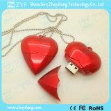 أحمر قلب شكل بلاستيكيّة [أوسب] برق إدارة وحدة دفع ([زف1200])
