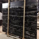 銀製のドラゴンの大理石の平板の白黒木の大理石