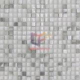 Tuiles de mosaïque en aluminium d'argent en cristal blanc superbe de mélange (CFA73)