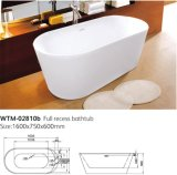 Banho acrílico feito na cuba de banho ereta livre do Oval de China
