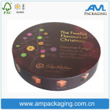 Rectángulo redondo impreso embalaje de lujo de encargo rígido del chocolate del color del regalo