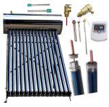 Riscaldatore di acqua ad alta pressione/pressurizzato del collettore solare della valvola elettronica del condotto termico (sistema a energia solare dell'acciaio inossidabile)