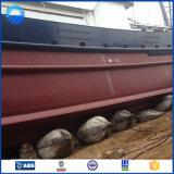 O barco parte a bolsa a ar de borracha marinha da bexiga inflável
