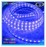 Luz de tira flexible al aire libre brillante estupenda de IP65 LED con la certificación de RoHS ETL del Ce