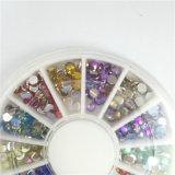 Kristallab-NagelRhinestones, flache Rückseite nicht Hotfix Funkeln-Nagel-Steine, DIY 3D Nagel ruft Dekoration-Lieferanten an