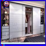 Garde-robe lustrée élevée de porte coulissante (ZH0053)