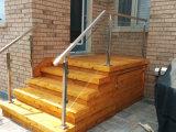 La calidad de Prima modifica el pasamano de la escalera del acero inoxidable/la barandilla de cristal/el pasamano de cristal del balcón para requisitos particulares