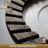 Roues de meulage de cuvette de rangée de double de segment de diamant pour le granit