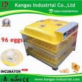 L'incubateur complètement automatique de vente le plus chaud d'oeufs de poulet pour 96 oeufs