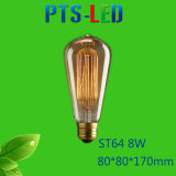 St64 4W 6W 8W 400-900lm Dimmable LED Heizfaden-Birne