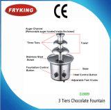 L'acier inoxydable 3 électriques/5/7 rangées a personnalisé le prix de machine de fontaine de chocolat