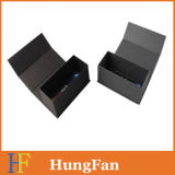 Подгонянная коробка подарка роскошного черного картона твердая бумажная упаковывая