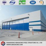 Edifício industrial pesado de construção de aço para o avião