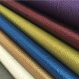 Ткань мебели винила имитационной кожи PVC влияния сбор винограда Pearly