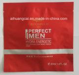 Kundenspezifische seitlicher Heißsiegel-kosmetische Schablone, die Plastiktasche verpackt