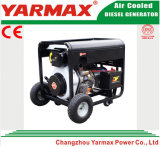 Yarmax 5kw 5000W bewegliches Kabinendach-leiser Dieselschweißer-Generator