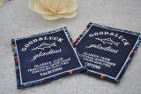 Contrassegno dell'indumento del contrassegno di marca del rifornimento della fabbrica, contrassegno tessuto