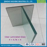 Densamente vidrio laminado de la seguridad de 6.38m m con la intercapa de PVB