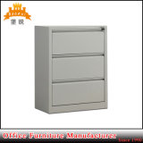 Knock Down Furniture Durable 3 Drawer Metal Filing Cabinet