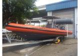 Aqualand 28feetの堅く膨脹可能なボートの/Ribの哨戒艇か深海の漁船(RIB900)