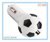 USB Car Charger de Shape Promotional 2.1A do futebol (CC-033)