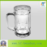 Alta calidad de cristal de la taza de la cerveza de las tazas con la cristalería Kb-Hn090 de la maneta