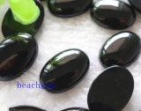 Het deel-Natuurlijke Zwarte Onyx Cabochon van juwelen