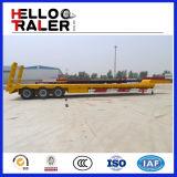 Сверхмощный Axle 3 трейлер кровати 60 тонн низкий для сбывания