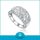 Anello accettato OEM dell'argento sterlina di Zircon 925 per le signore (R-0420)