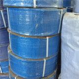 Blaues landwirtschaftliches Bewässerung-Wasser-gelegtes flaches Rohr
