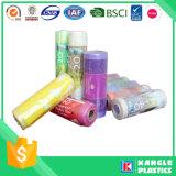 Sacs de détritus en plastique biodégradables colorés de vente chaude