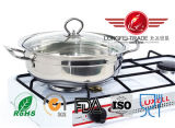 Steel di acciaio inossidabile Hot Pot per Chaffy Dish