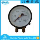 calibre de pressão dobro da tubulação dobro do ponteiro de 100mm para a estrada de ferro