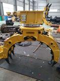 掘削機の部品の製造者の石のグラブの回転式石は取り組む