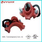 Abrazadera de hierro dúctil listada FM / UL con tipo de rosca Bsp para sistema de seguridad contra incendios