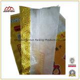 Saco tecido PP laminado alumínio para o arroz da embalagem 25kg