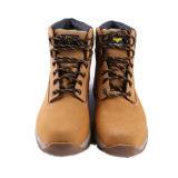 Ботинки безопасности пальца ноги цвета меда людей стальные