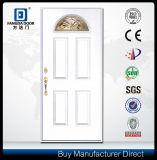 Porte en bois moderne de fibre de verre de métier de main de regard de porte