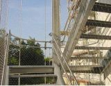Подгонянный архитектурноакустический x клонит гибкая ячеистая сеть кабеля нержавеющей стали