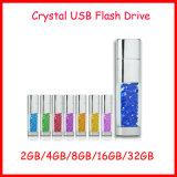 Unidad flash USB de metal rectangular de cristal de disco USB