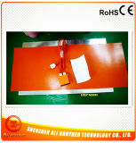 Calefator de faixa de vidro 1200*2500*1.5mm do silicone da impressão 220V 1500W Xd-H-P-002