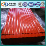 Feuille de Corrugatedsteel utilisée en feuille de toiture