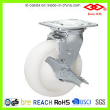Weiße Plastikhochleistungsfußrolle (P701-30D100X50S)