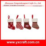 Decoratie van de Kerstboom van het Ontwerp van de Sok van de Gift van Kerstmis de Kleine Kunstmatige
