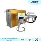 machine d'inscription de laser de fibre de prise de la main 20W pour le repérage de produits de tailles importantes